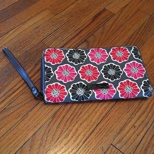 Vera Bradley Wristlet . Cherry Blossom Pattern